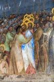 Padua - de kus van de fresko'sjudas in Baptistery van Duomo of de Kathedraal van Santa Maria Assunta door Giusto DE Menabuoi stock foto