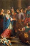 Padua - Espousals maryja dziewica Joseph w kościelnej katedrze Santa Maria Assunta i st (Duomo) zdjęcia stock
