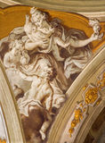 Padua - The fresco of cardinal virtue of love in Cathedral of Santa Maria Assunta (Duomo) Royalty Free Stock Photography