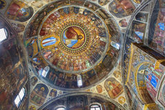 Padua - The frescos in Baptistery of Duomo or The Cathedral of Santa Maria Assunta by Giusto de Menabuoi (1375-1376). Royalty Free Stock Photography