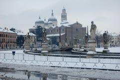 Padua i śnieg obrazy stock