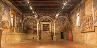 Padua - The indoor of Oratorio di San Rocco. Royalty Free Stock Images