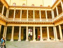 Padua, Italië - September 19, 2014: Palazzo BO, historisch de bouwhuis Stock Foto