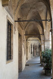 Padua (Italia), pórtico antiguo Foto de archivo libre de regalías