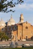 Padua, Italien - 24. August 2017: Die Basilika von Santa Giustina ist in der Mitte des Prato-della Valle-Quadrats Stockfoto