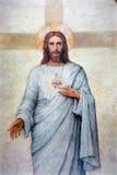 PADUA ITALIEN - SEPTEMBER 8, 2014: Hjärtan av Jesus Christ målarfärg i domkyrka av Santa Maria Assunta (Duomo) royaltyfri bild