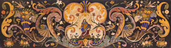 PADUA ITALIEN - SEPTEMBER 8, 2014: Stena mosaiken på det huvudsakliga altaret av basilikadi Santa Giustina Arkivfoton