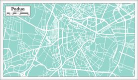 Padua Italy City Map In Retro Style Outline Map Stock Vector