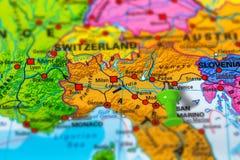 Padua Italy map Stock Photo