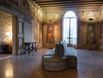 Renaissance frescoes into a Venetian villa. Royalty Free Stock Image