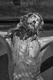 PADUA, ITALY - SEPTEMBER 10, 2014: The detail of Crucifixion statue in the church Chiesa di San Gaetano Stock Photography