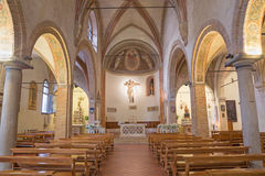 PADUA, ITALY - SEPTEMBER 8, 2014: The nave of church church of st. Nicholas royalty free stock photos