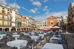 PADUA, ITALY - SEPTEMBER 10, 2014: Piazza dei Signori square Royalty Free Stock Photography