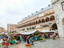 Padua, Italy - September 19, 2014: Scene of Palazzo della Ragione Stock Image