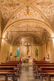 PADUA, ITALY - SEPTEMBER 9, 2014: The side chapel in church San Benedetto vecchio Royalty Free Stock Photos