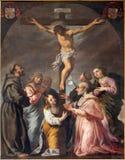 Padua krzyżowanie i święty w kościelnej katedrze Santa Maria Assunta - (Duomo) Zdjęcie Stock