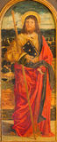 Padua - la pintura de st Jacob el apóstol por la escuela de Bellini a partir del 16 centavo en la iglesia de San Nicolás Imagen de archivo