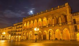 Padua - The Lodge Amulea ont the Prato della Vale at night. Stock Photos