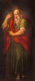 Padua - målarfärgen av St Paul aposteln i den kyrkliga Santa Maria deien Servi Royaltyfri Bild