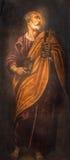 Padua - målarfärgen av St Peter aposteln i den kyrkliga Santa Maria deien Servi Royaltyfri Foto