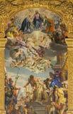 Padua - The martyrium of saint Justine by Paolo Veronese (1572) on the main altar of Basilica di Santa Giustina. PADUA, ITALY - SEPTEMBER 8 Royalty Free Stock Photos