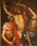 Padua - Martyriumen av St Bartholomew aposteln av den okända målaren av 18 cent Arkivbild