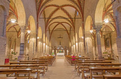 Padua - The nave of church Chiesa di Santa Sofia. Stock Images