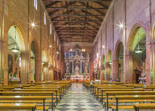 Padua - The nave of church San Benedetto vecchio (Saint Benedict). Royalty Free Stock Photography