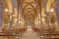 Padua - nave kościelny Chiesa Di Santa Sofia Obrazy Stock