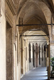 Padua, Oud portiek stock afbeeldingen