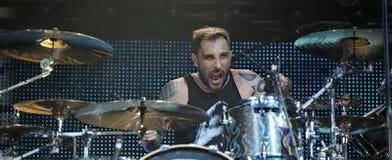 Padua Padova, PD, Italy - March 29, 2017: Luca Martelli drummer Stock Image