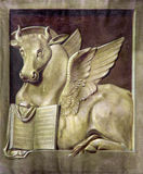 Padua - The paint of the bull as symbol of st. Luke the Evangelist in church Basilica del Carmine Royalty Free Stock Photos