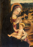 Padua - The paint Madonna with the child  by Bellini school from 16. cent. in church of st. Nicholas. Royalty Free Stock Photography