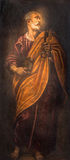 Padua - The paint of st. Peter the apostle in church Santa Maria dei Servi. Royalty Free Stock Photo