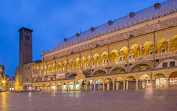 Padua - Piazza della Fruta in evening dusk and Palazzo Royalty Free Stock Photos