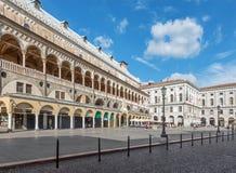 Padua - Piazza delle Erbe and Palazzo della Ragione. Stock Photos
