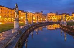 Padua - Prato della Valle in evening Royalty Free Stock Photography