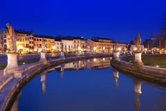 Padua Prato della Valle illuminated at night Royalty Free Stock Photo