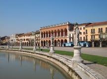 Padua. Prato della Valle. Square in Padua, Italy Stock Photos