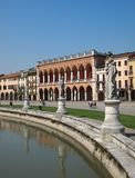 Padua. Prato della Valle. Square in Padua, Italy Royalty Free Stock Photo