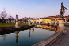 Padua prato della valle at sunset Royalty Free Stock Photography