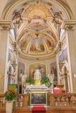 Padua - presbyteriet av kyrkliga Chiesa di San Daniele royaltyfria foton