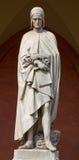 Padua - The statue of Dante Alighieri in the porch of the Lodge Amulea by Vincenzo Vela Stock Photo