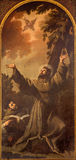 Padua - Stigmatization of st. Francis of Assisi by Luca Ferrari da Reggio (1605 - 1654) in church San Francesco del Grande. PADUA, ITALY - SEPTEMBER 8, 2014 Stock Photo