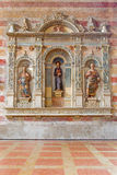 Padua - The tomb of Jacopo da Carrara by venetian sculptor Andriolo de Santi (14. cent.) in the church of The Eremitani Royalty Free Stock Image