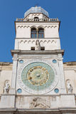 Padua - Torre del Orologio (astronomical clock tower) and st. on Piazza dei Signori Stock Images
