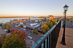 Paducah Kentucky Riverfront. Downtown Paducah Kentucky overlooking Ohio riverfront royalty free stock photo