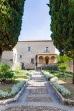 Padula Włochy, Wrzesień, - 2018: Przegląd ogród przeor San Lorenzo obrazy royalty free