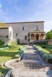 Padula Włochy, Wrzesień, - 2018: Przegląd ogród przeor San Lorenzo zdjęcie stock