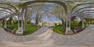 Paduricemeer in Padurice-Park, Arad, Roemenië Royalty-vrije Stock Foto's
